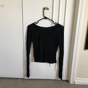 Brandy Melville basic black long sleeve